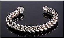 Heavy Solid Silver Rope Twist Bangle, Egyptian