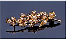 Victorian 18 Carat Gold and Seed Pearl Ladies