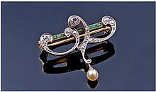 Edwardian Fine 18 Carat Gold and Platinum Set