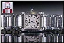 Cartier Tank Francaise Stainless Steel Quartz