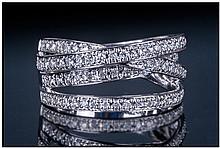 Ladies 18ct White Gold Diamond Dress Ring. Set