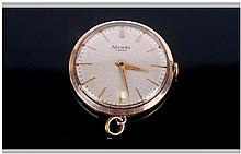 Gilt Case Nivada Fob Watch. Champagne Dial, Gilt