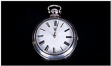 19th Century Pair Case Fusee Pocket Watch, With