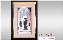 L.S.Lowry 1887-1976 Pencil Signed Limited Edition Colour Print/Lithograph,