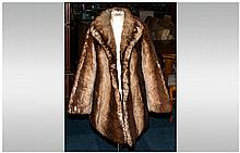 Ladies Brown Faux Fur Jacket