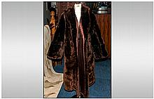 Dark Brown Beaver Lamb Coat fully lined
