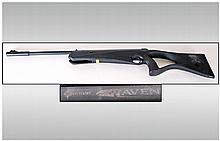 Crossman Raven Air Rifle .177 synthetic stock