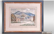 J Bromiley Watercolour, 'Applethwaite Under