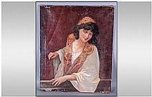 Early Twentieth Century Oil on Canvas, portrait of