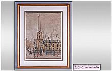 L.S.Lowry 1887-1976 Pencil Signed Limited Edition