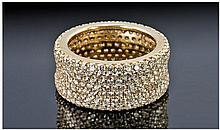 Diamond Cluster Ring, The Band Fully Pave Set With