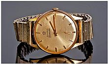 Omega Seamaster 18ct Gold Cased Wrist Watch.