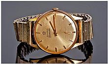 Omega Seamaster 18ct Gold Cased Wrist Watch.