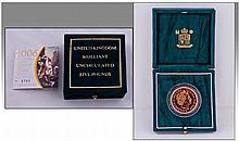 Royal Mint Brilliant Uncirculated 22ct Gold Five