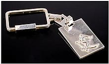 Skiing Interest. An Unusual Silver Keyring