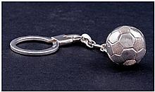 Football Interest. A Silver Key Ring featuring a
