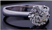 18ct Gold Set Single Stone Diamond Ring. The round
