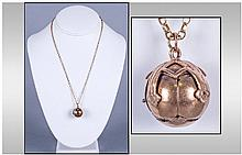 Masonic Vintage 9ct Gold Sphere/Ball Which Opens