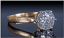 18ct Gold Diamond Solitaire, Set with a single