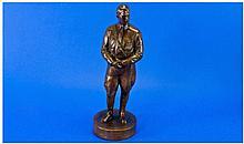 Brozne Style Figure of Standing Adolf Hitler.