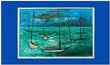 Mavis Evans 20th Century Artist 'Night Passage'.