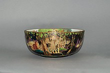 Wedgwood - Daisy Makeig Jones Fairyland Lustre Extremely Fine Bowl. c.1920.