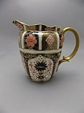 Royal Crown Derby Imari Pattern Jug. Dated 1920's. 6 Inches High. Mint Cond