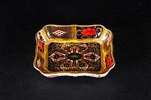 Royal Crown Derby Old Imari Patterned Pin Dish. Pattern Num.1128. Date 1979