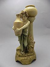 Ernst Wahliss Wien Austrian Fine Quality Late 19th Century Hand Painted Fig