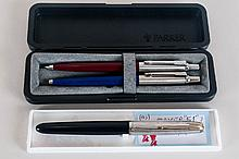Parker 51 Fountain Pen Together With A Boxed Pen Set