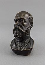 Victorian - Late 19th Century Very Fine Bronze Miniature Bust of The Future