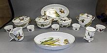 Royal Worcester 13 Piece Part Fruit Set ' Evesham ' Design. All Pieces are