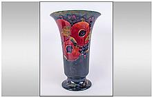 Moorcroft 'Pomegranate and Berries' Pattern Trumpet Vase, the traditional f