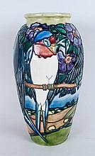 Moorcroft Ltd and Numbered Edition Ovoid Vase. Number 498/500 ' Swallows '