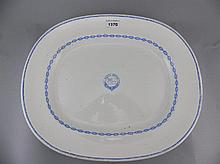 Maritime Interest,  Large Copeland Pottery Platter With North Devon Shippin