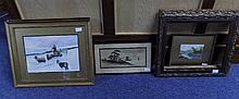 Collection Of Framed Pictures Comprising Winter Landscape With Shepherd And