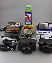 Collection of Assorted Cameras comprising Olympus Superzoom 140S, Brownie F