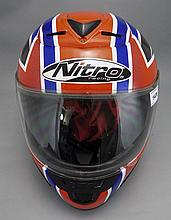 Motorcycle Helmet, Colours Of The Union  Jack, Marked Nitro Racing