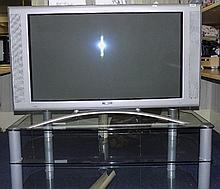 Philips Silver Framed TV, Model 42PF9946/12 Complete With Glass Stand