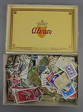 Cigar Box Full of Stamps From Around The World, Covering The Early to Later