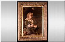 Victorian Print After 'Bubbles' by John Everett Millais. An art print of be