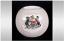 W. Moorcroft Circular Match Striker Made For E.M S