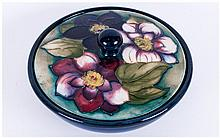 Moorcroft 'Clematis' Pattern Powder Bowl, the cove