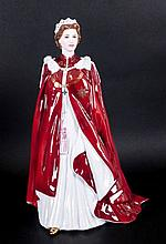 Royal Worcester 'Queen' Figure In Celebration of T