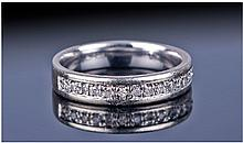 9ct White Gold Diamond Half Eternity Ring, Set