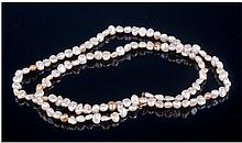 Fresh Water Pearl Necklace, Length 16 Inches, 9ct