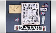 England World Cup 1966 Autographs. An original
