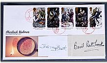 Sherlock Holmes Autograph. FDC with stuck on
