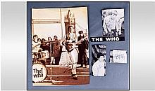 The Who Autographs. Four separate signatures.