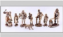Collection Of 8 Assorted Miniature Bronze Effect